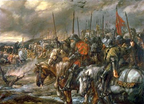 morning-of-the-battle-of-agincourt-25th-october-1415