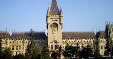Palatul Culturii si Piata Palatului din Iasi