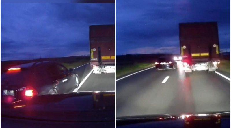 VIDEO Șofer de BMW înmatriculat în Vaslui, goană nebună la ieșirea din Bârlad