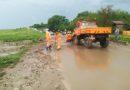 Drumul spre Huși, blocat de aluviuni