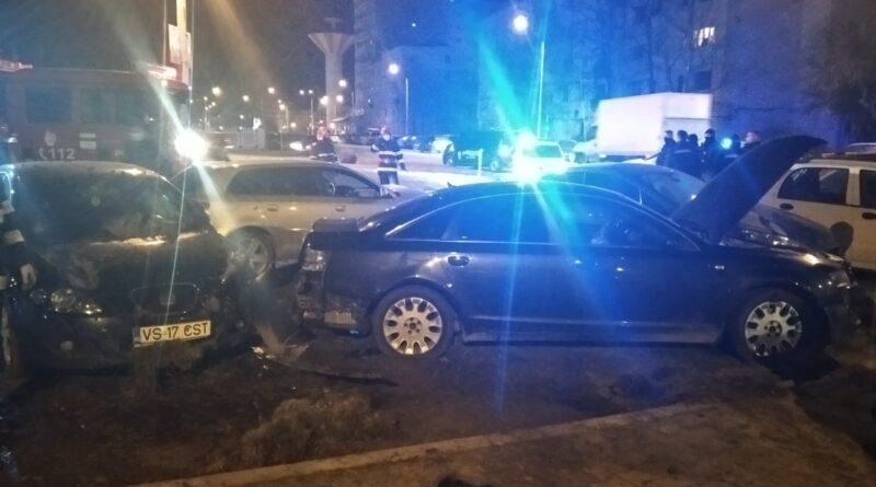 [Foto] Acum – Accident cu patru mașini, în sensul giratoriu de la Interex