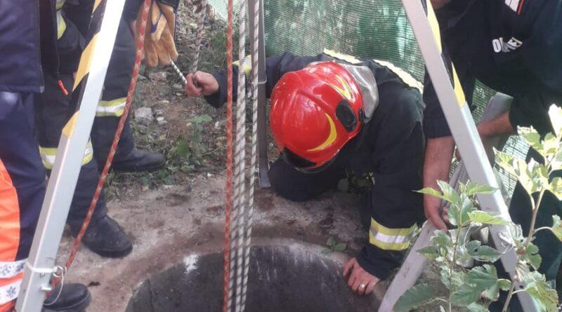 Femeie căzută în fosă la Muntenii de Sus